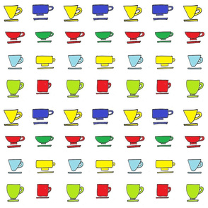 Colorful Mugs - Bright