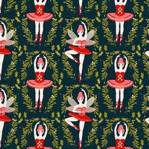 nutcracker ballet // ballerinas nutcracker christmas xmas holiday fabric by andrea lauren