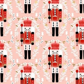 nutcracker // pink and red nutcrackers holiday xmas christmas fabric christmas andrea lauren christmas fabric