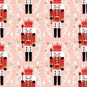 nutcracker // pink and red nutcrackers holiday xmas christmas fabric christmas andrea lauren christmas fabric
