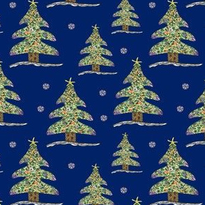 Seaside Christmas Tree (Deep Blue)