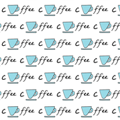 Cup of coffee - blue