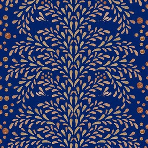 Victorian Inspiration in Gold (Deep Blue)
