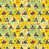 Geometric Modern Memphis Confetti Triangles Bright Yellow