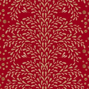 Victorian Inspiration in Gold (Red)
