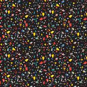 Geometric Modern Memphis Confetti Black 80s