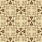 Brown Lace Pattern