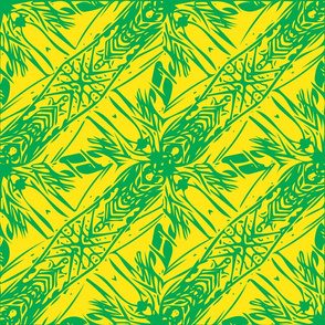 Hawaii Plant Series-Yellow & Green