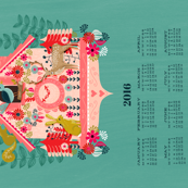 2016 Cuckoo Tea Towel Calendar by Andrea Lauren