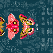2016 Moths Tea Towel Calendar by Andrea Lauren