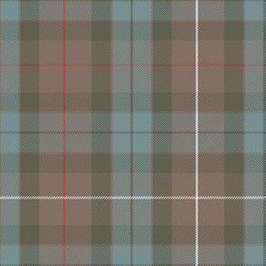 Fraser Hunting weathered tartan - greyed