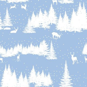 Winter Wald  in blueberry