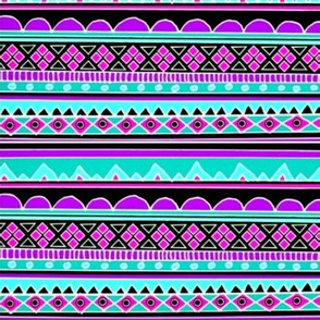 Blue and Purple Tribal