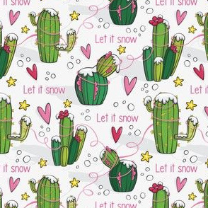 Let it snow cactus