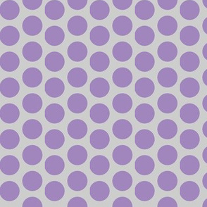 Danita's Purple Polka Dots on Gray