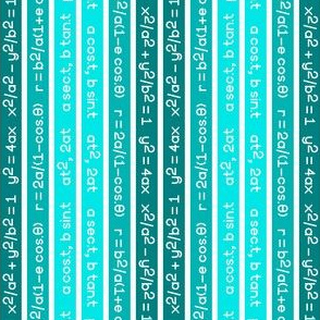 equation stripes : cyan teal