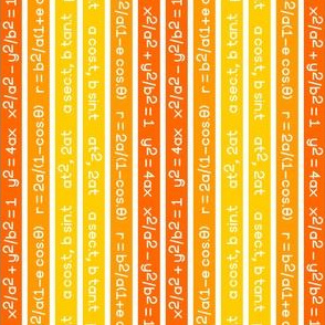 equation stripes : yellow orange vermilion