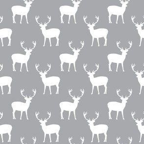 Grey and white deer