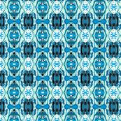 MODERN MEDALLIONS - BLUE & MINT