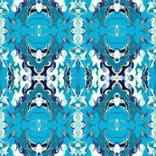GOTHIC MEDALLIONS - BLUE