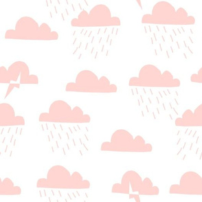 Rain Clouds - Rose Pink by Andrea Lauren