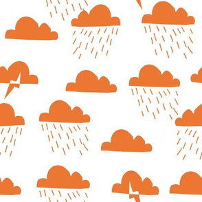 Rain Clouds - Tangelo Orange by Andrea Lauren