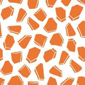 Space Rocks - Tangelo Orange by Andrea Lauren