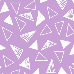 Hand Drawn Triangles - Lilac by Andrea Lauren