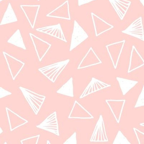 Hand Drawn Triangles - Rose Pink by Andrea Lauren