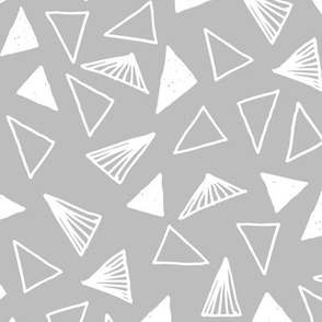 Hand Drawn Triangles - Slate Grey by Andrea Lauren
