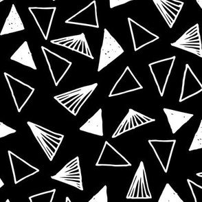 Hand Drawn Triangles - Black by Andrea Lauren