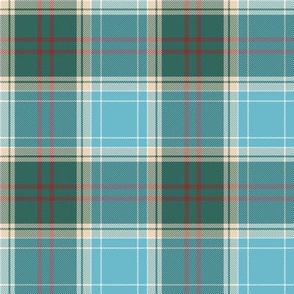 Michigan tartan - great lakes, greyed