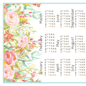 Calendar 2016 Tea Towel