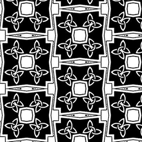 Celtic Knot Squares in Black and White
