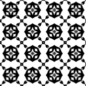 Black and White Celtic Geometric