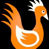 Duck Dance Orange White Black