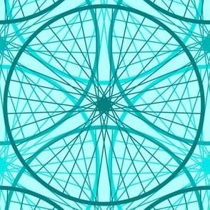 wheels of teal : cyan cycle