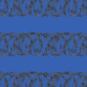 Barbed Wire on Deep Blue