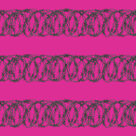 Barbed Wire on Bubblegum Pink