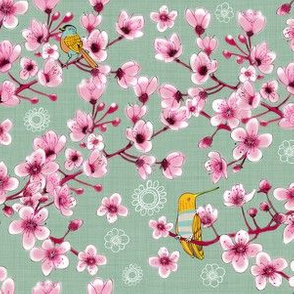 Blossoms and birds