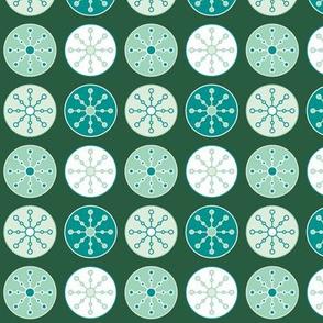 Snowflake Circles (Minty)
