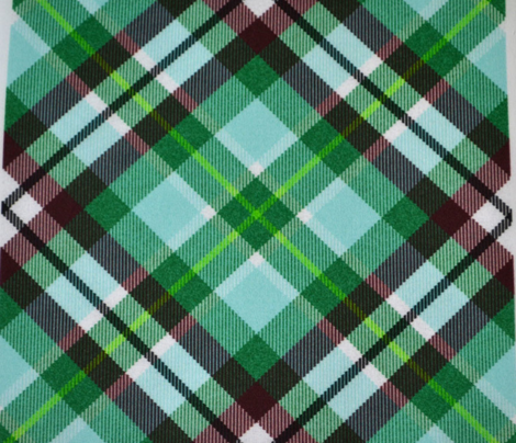 Aqua and Olive Plaid, Turned