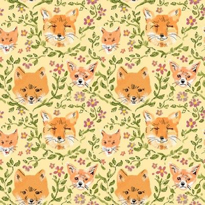 Foxes and Flowers 2