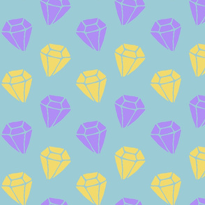 purple and yellow diamonds