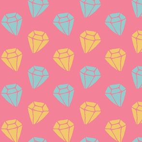Cotton candy diamonds