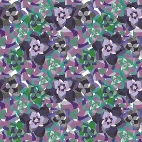 Succulent Pattern in Eggplant