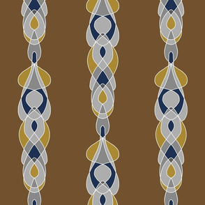 Argyle Braid Brown
