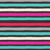 Painted Stripe Black Colorful