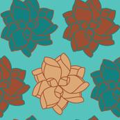 Desert Skies Succulent Pattern