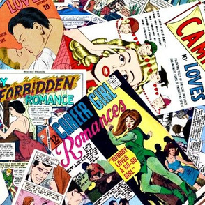 vintage comic book romance - LARGE PRINT